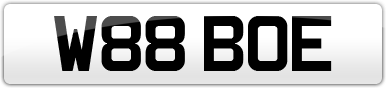 Plate image for registration plate W88BOE