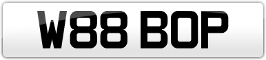 Plate image for registration plate W88BOP