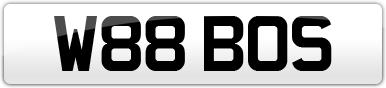 Plate image for registration plate W88BOS