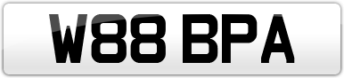 Plate image for registration plate W88BPA