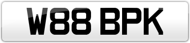 Plate image for registration plate W88BPK