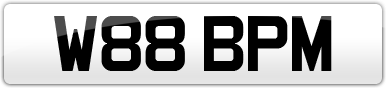 Plate image for registration plate W88BPM