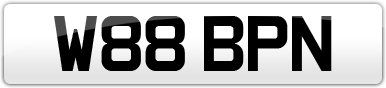 Plate image for registration plate W88BPN