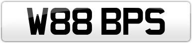 Plate image for registration plate W88BPS