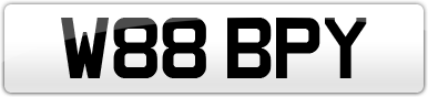 Plate image for registration plate W88BPY