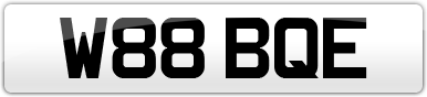 Plate image for registration plate W88BQE