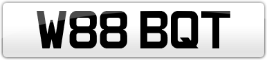 Plate image for registration plate W88BQT