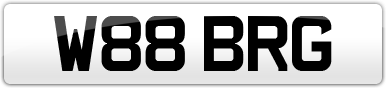Plate image for registration plate W88BRG