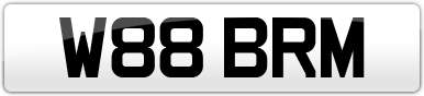 Plate image for registration plate W88BRM
