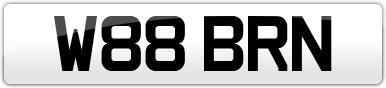 Plate image for registration plate W88BRN