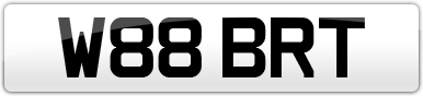Plate image for registration plate W88BRT