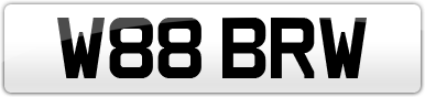 Plate image for registration plate W88BRW