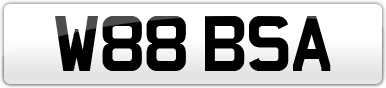 Plate image for registration plate W88BSA