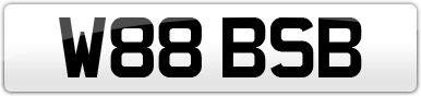 Plate image for registration plate W88BSB