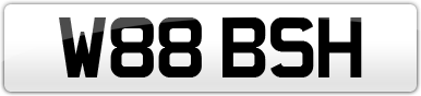 Plate image for registration plate W88BSH