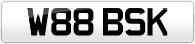 Plate image for registration plate W88BSK