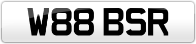 Plate image for registration plate W88BSR