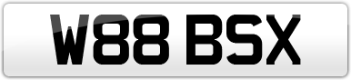 Plate image for registration plate W88BSX