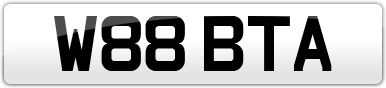 Plate image for registration plate W88BTA