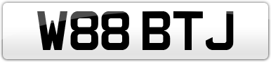 Plate image for registration plate W88BTJ