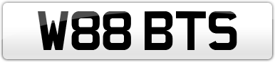 Plate image for registration plate W88BTS