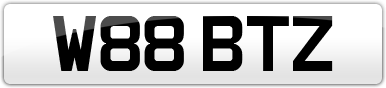 Plate image for registration plate W88BTZ