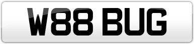 Plate image for registration plate W88BUG