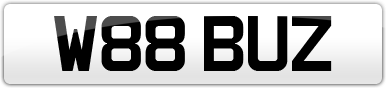 Plate image for registration plate W88BUZ