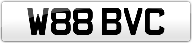 Plate image for registration plate W88BVC