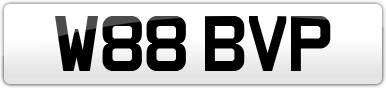 Plate image for registration plate W88BVP