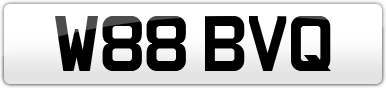 Plate image for registration plate W88BVQ