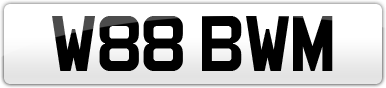 Plate image for registration plate W88BWM