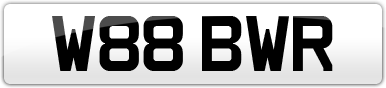 Plate image for registration plate W88BWR