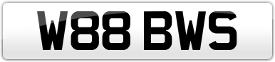 Plate image for registration plate W88BWS