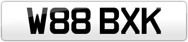 Plate image for registration plate W88BXK