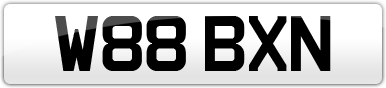 Plate image for registration plate W88BXN