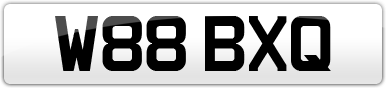 Plate image for registration plate W88BXQ
