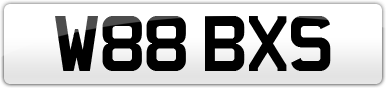 Plate image for registration plate W88BXS