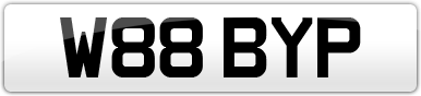 Plate image for registration plate W88BYP