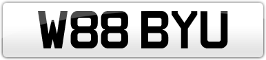 Plate image for registration plate W88BYU
