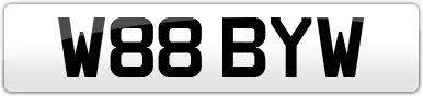 Plate image for registration plate W88BYW