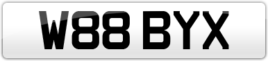 Plate image for registration plate W88BYX