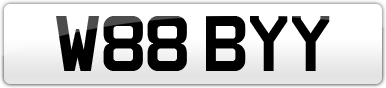 Plate image for registration plate W88BYY