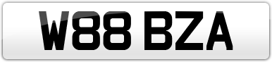 Plate image for registration plate W88BZA