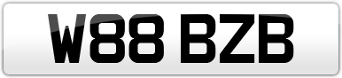 Plate image for registration plate W88BZB