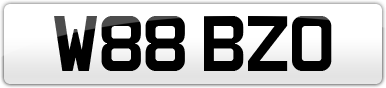 Plate image for registration plate W88BZO