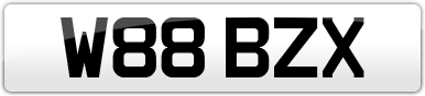 Plate image for registration plate W88BZX
