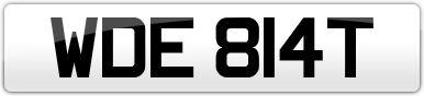 Plate image for registration plate WDE814T