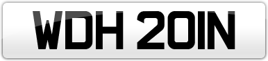 Plate image for registration plate WDH201N