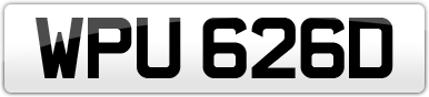 Plate image for registration plate WPU626D